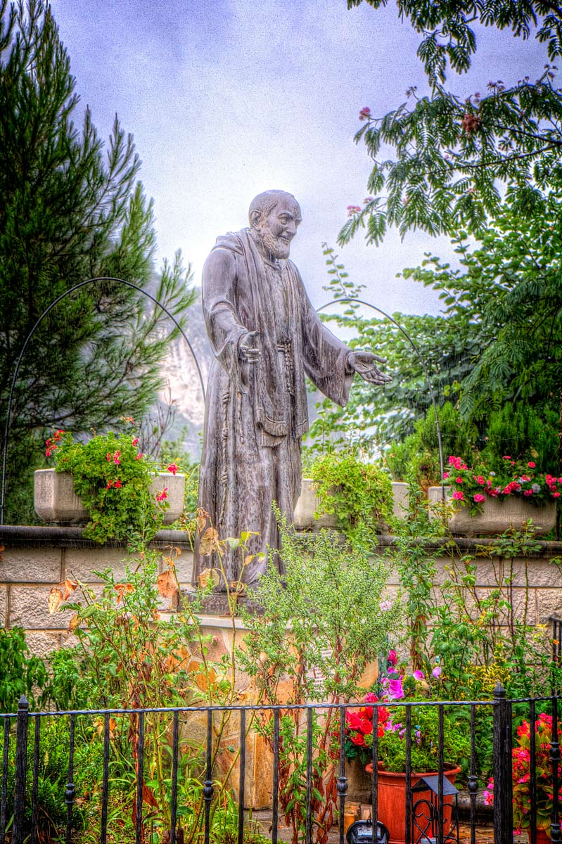 Padre Pio in the Rain