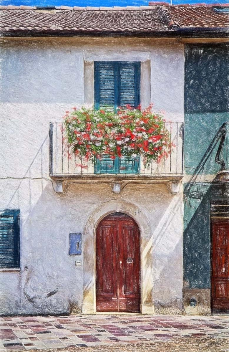 Geraniums-Color-Pencil-No-Border