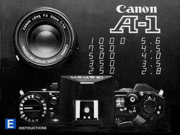 Instruction Manual for Canon A-1 Camera