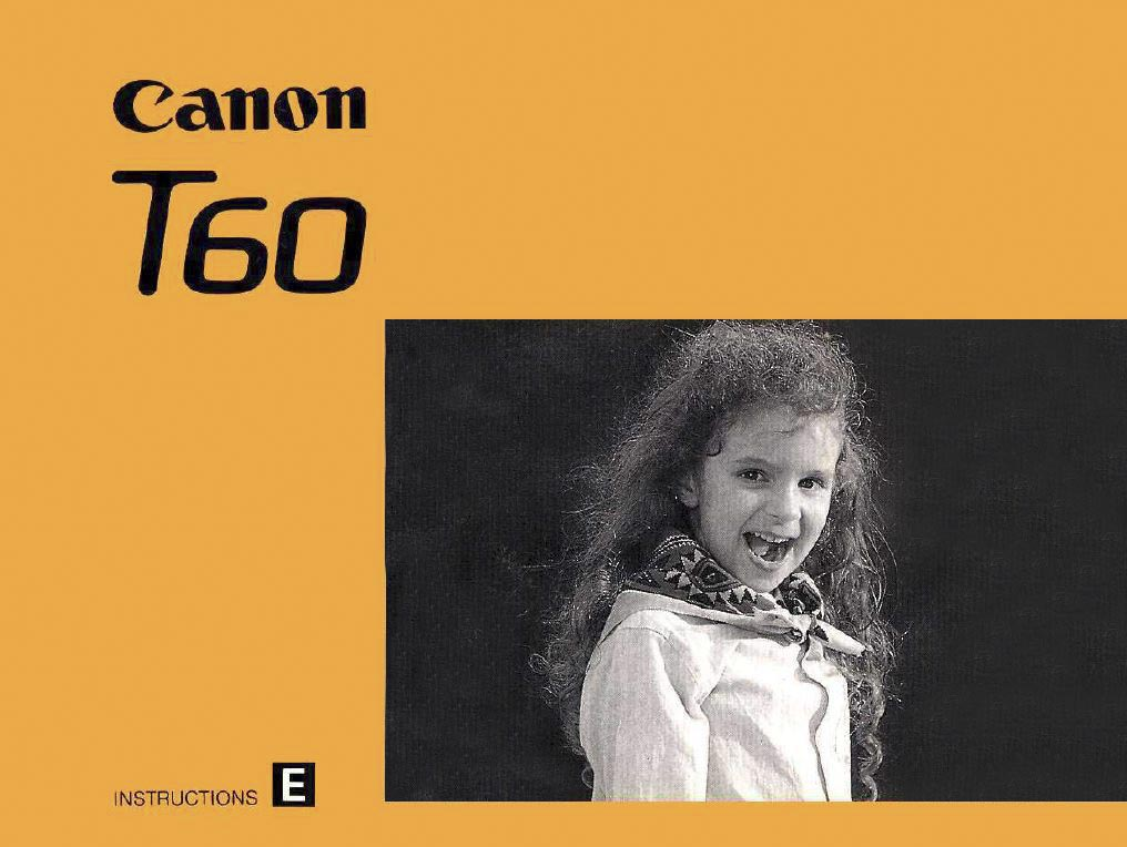 Instruction Manual for Canon T60
