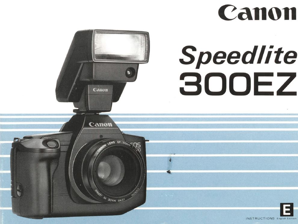 Instruction Manual for Canon Speedlite 300EZ