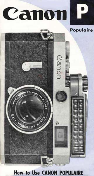 Manual for Canon P
