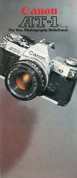 Instruction Manual for Canon AT-1 Camera