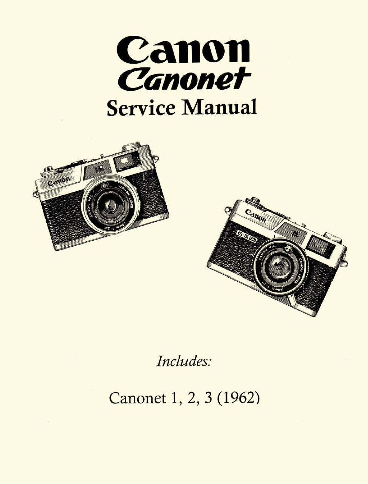 Canonet G-III 17/19 Instruction Manual