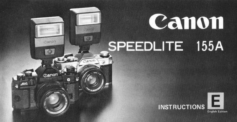 Instruction Manual for Canon Speedlite 155A