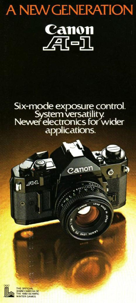 Brochure for Canon A-1 System