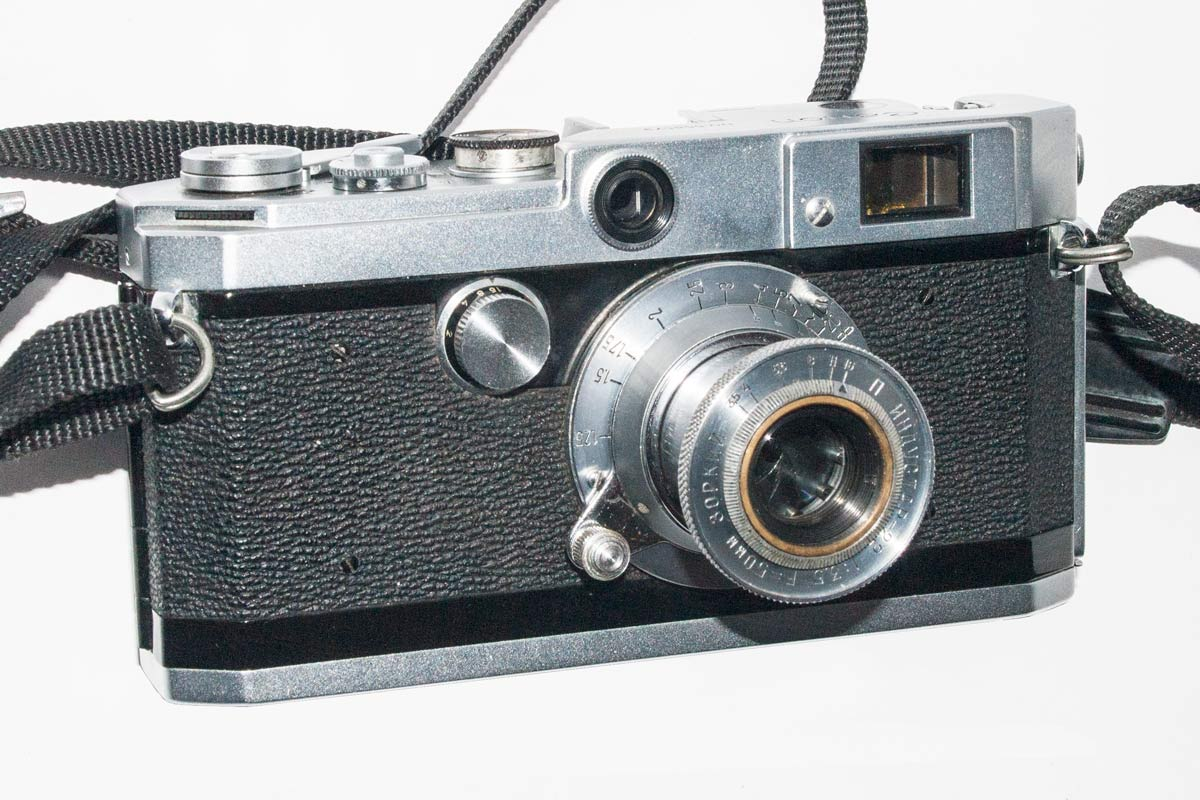 Canon L1 with Industar 22 lens