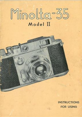 Minolta 35 Model II Instruction Manual