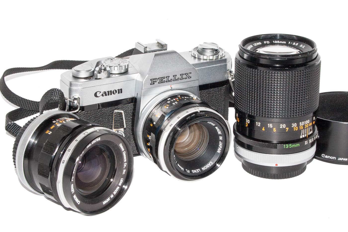 Canon Pellix with Lenses