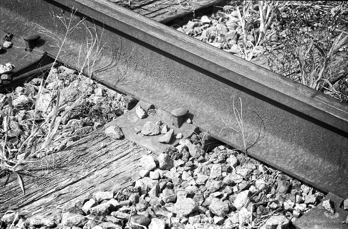 Black and White Image of Railway Tracks