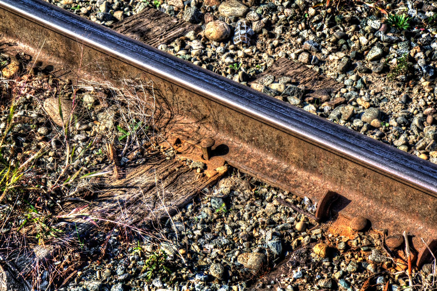 Color Image of Railway Track and Spike