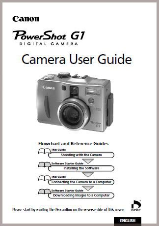 Instruction Manual for Canon G1
