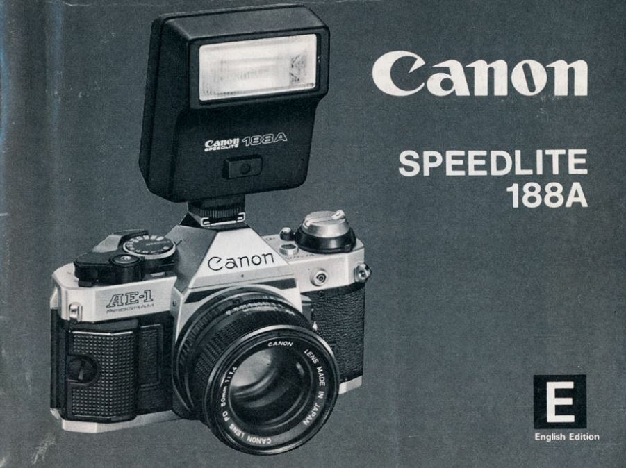 Instruction Manual for Canon Speedlite 188A
