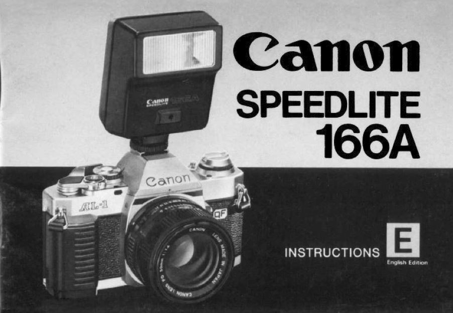 Instruction Manual for Canon Speedlite 166A
