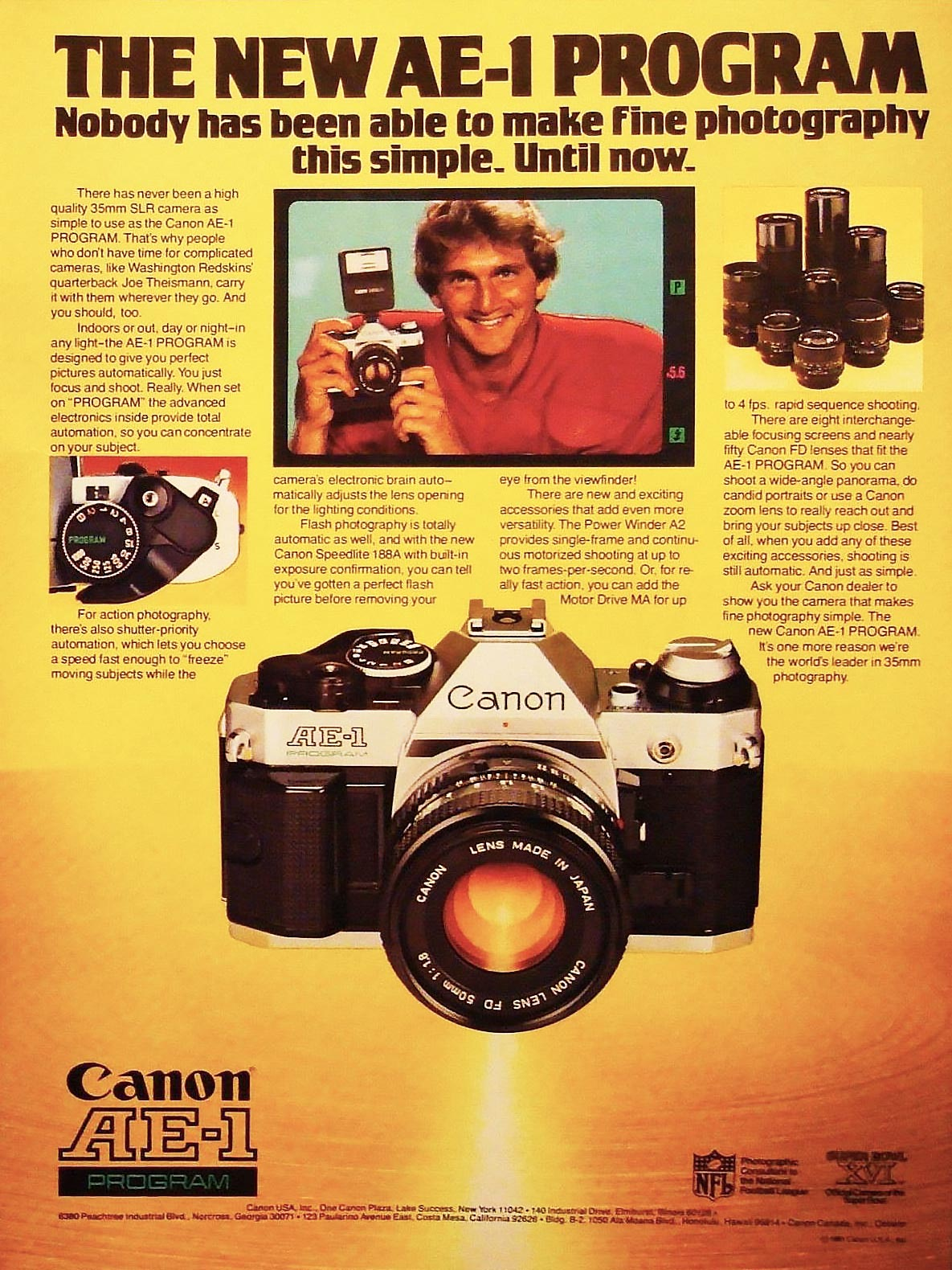 Advertisement for the Canon AE-1 Program