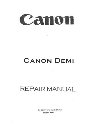 Manual for Canon Demi EE17