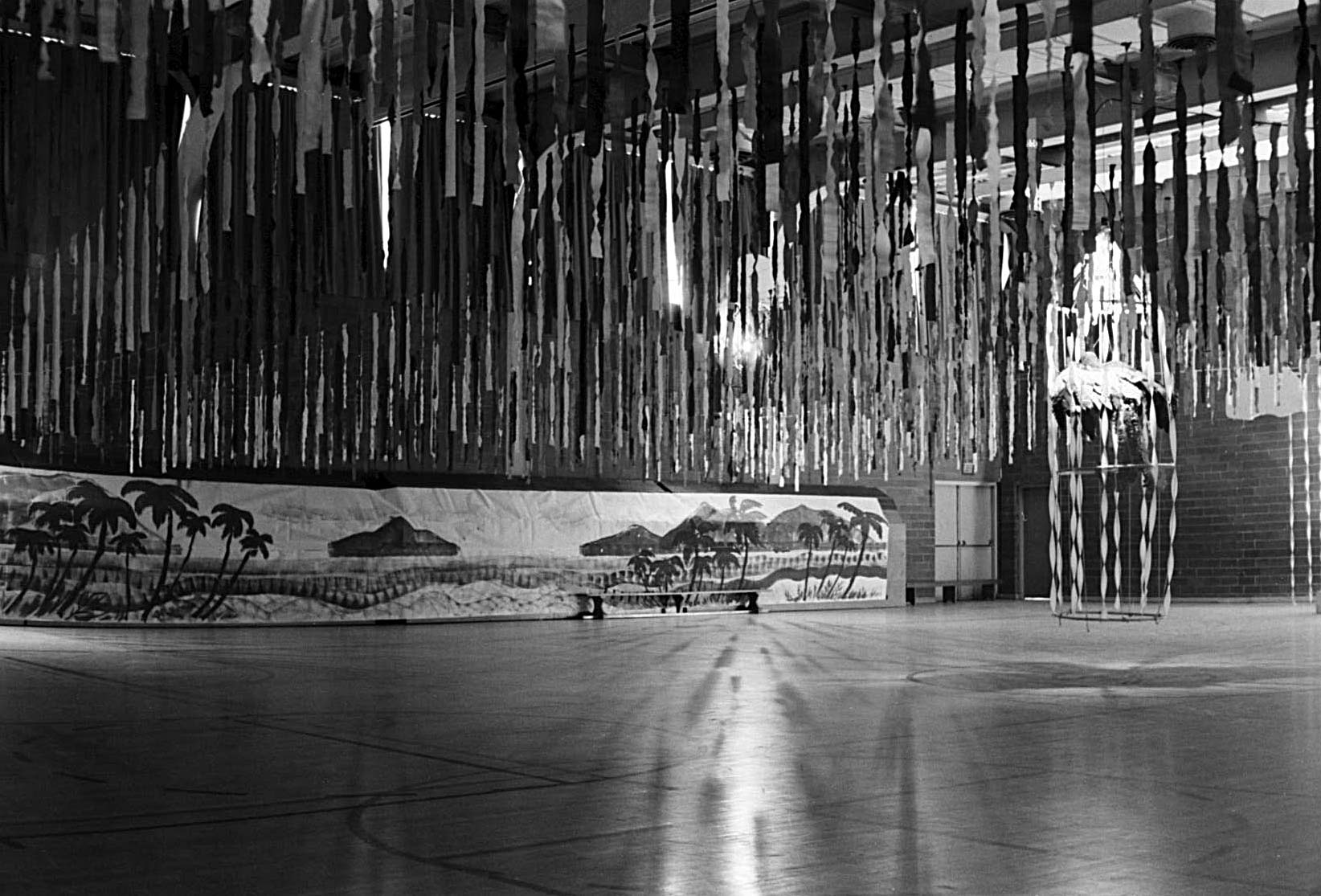 The Decorated Gym with a caged Parrot and sweeping vistas of the Islands