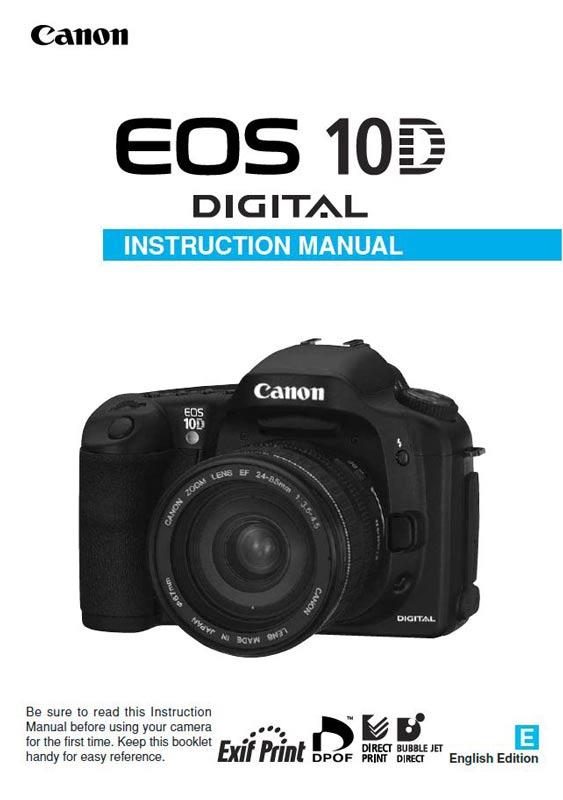Canon EOS 10D Manual