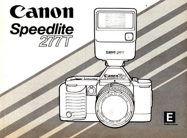 Instruction Manual for Canon Speedlite 277T
