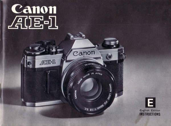Manual for Canon AE-1 Camera