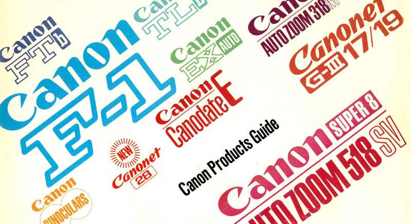 Instruction Manual for Canon F-1 Camera