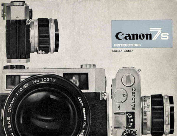 Canon 7s User Manual