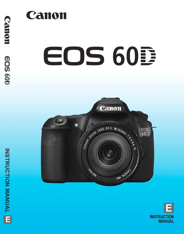 Instruction Manual for Canon 60D Camera