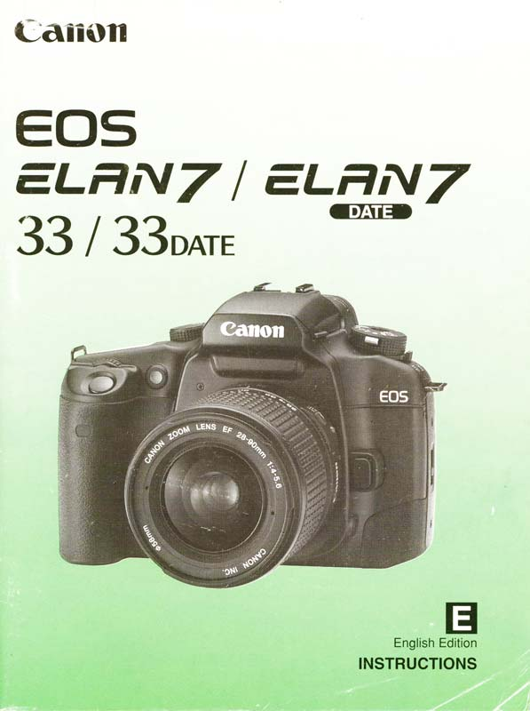 Instruction Manual for Canon EOS Elan 7 Camera