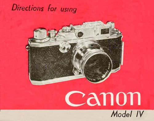 Canon Model IV User Manual