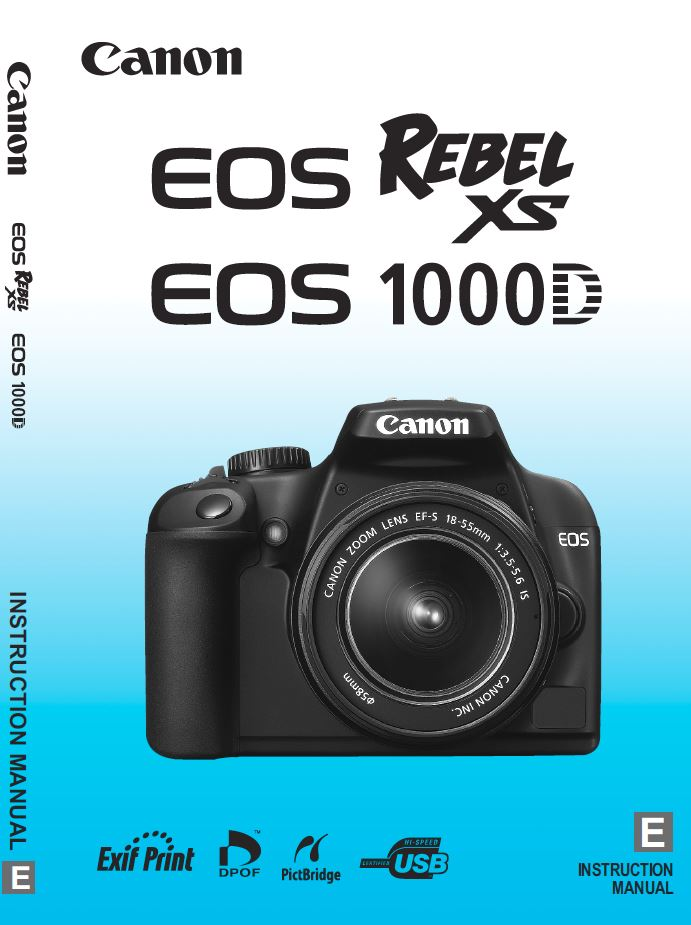 Instruction Manual for Canon EOS 1000D Camera