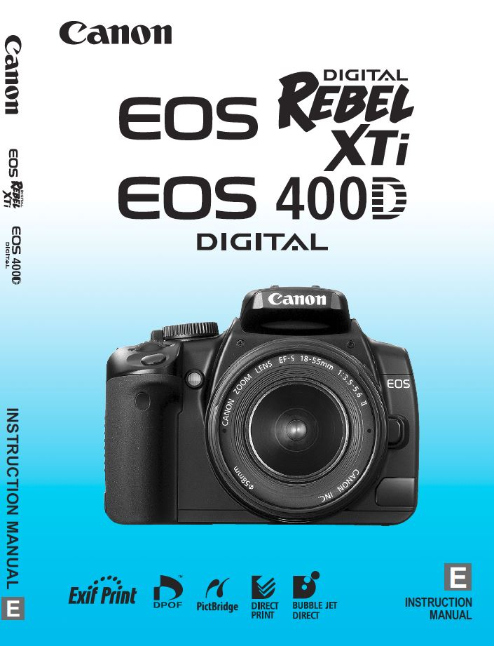 Instruction Manual for Rebel XTi