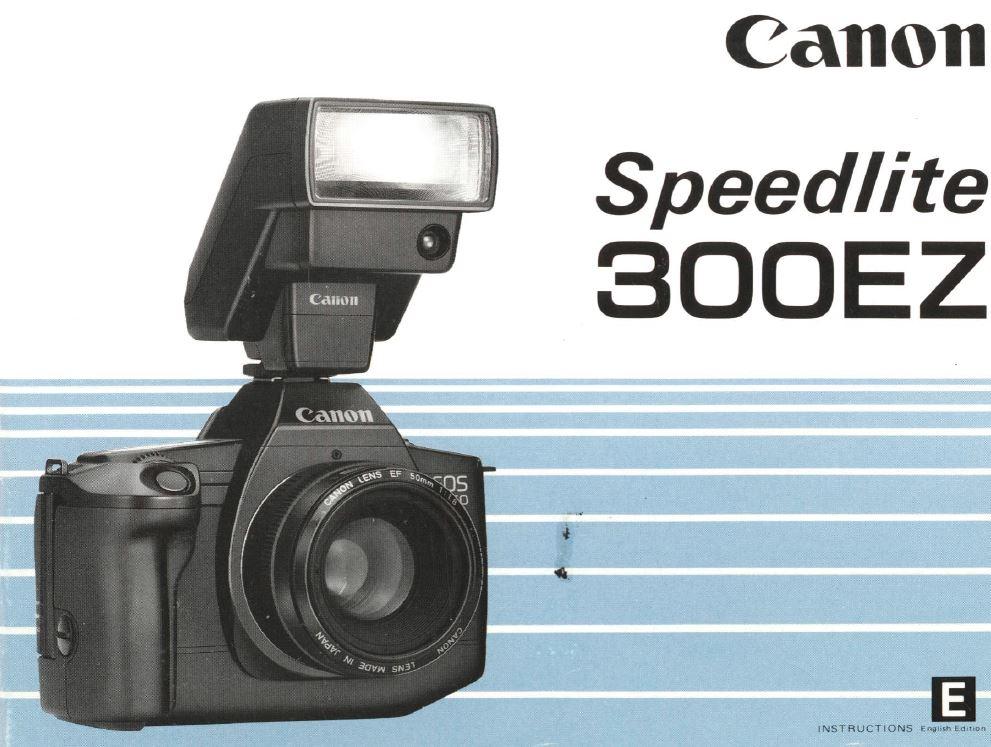 Instruction Manual for Canon Speedlite 300EZ