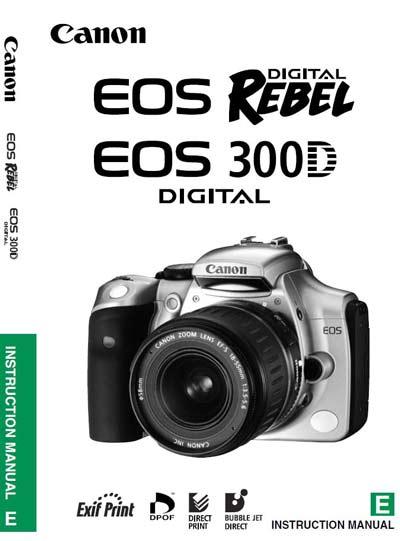 Canon EOS 300D User Manual