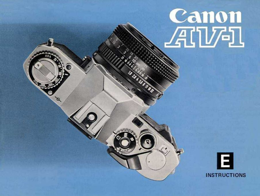 Instruction Manual for Canon AV-1Camera