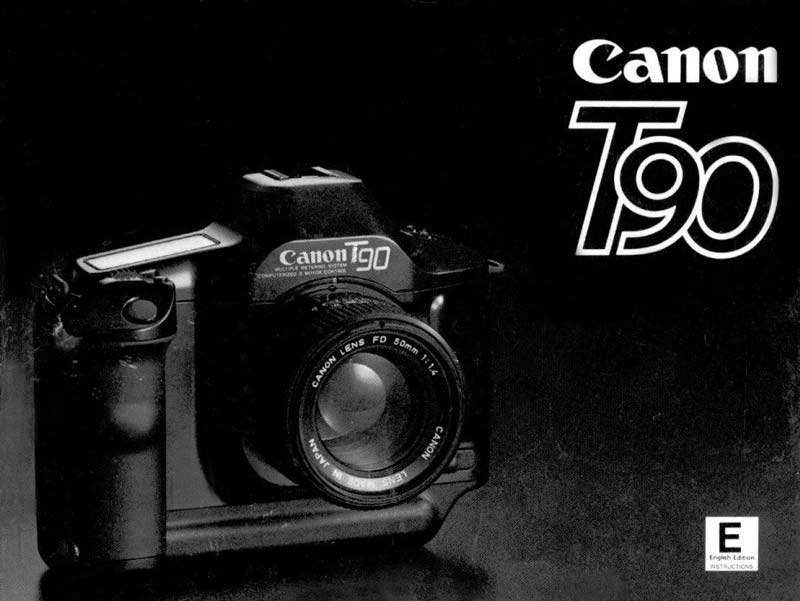 Instruction Manual for Canon T90 Camera