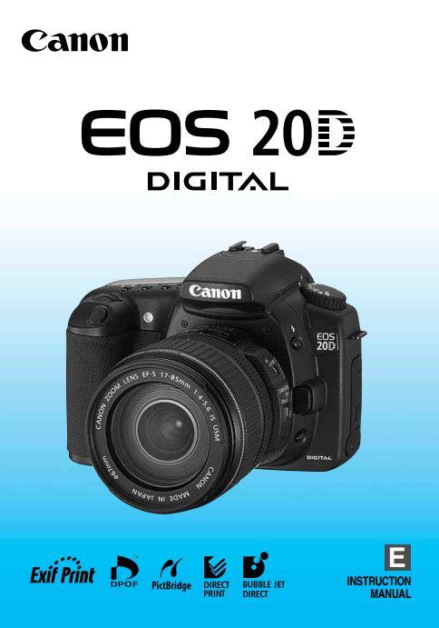 Canon EOS 20D Manual