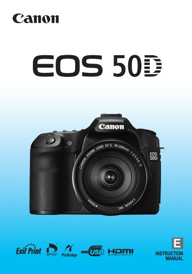 Instruction Manual for Canon EOS 50D