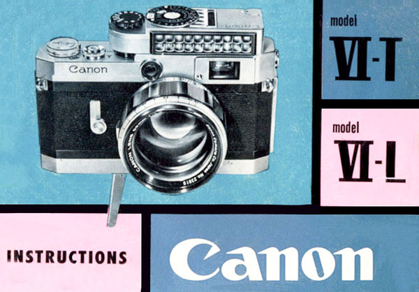 Canon Model VI-T Instruction Manual
