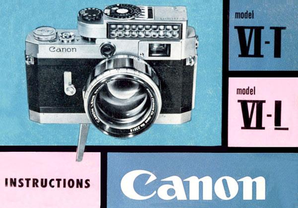 Canon Model VI Manual