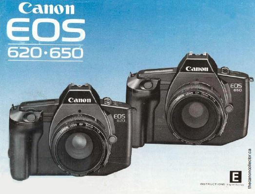 Instruction Manual for Canon EOS 620-650 Camera