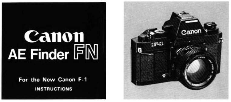 Instruction Manual Canon AE Finder FN