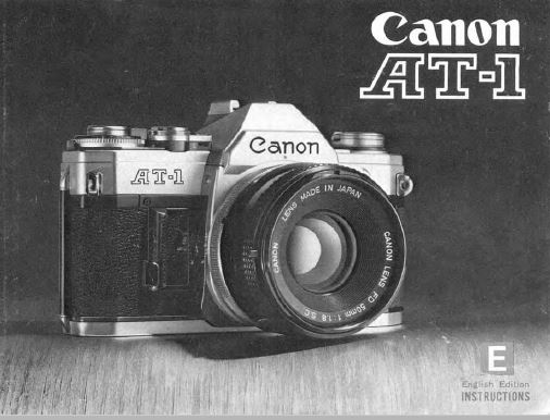 Instruction Manual for Canon AT-1Camera
