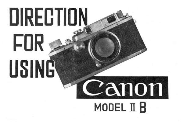 Canon Model II-B User Manual