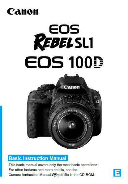 Canon EOS 100D User Manual