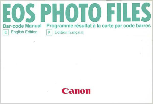 Bar-Codes for the Canon Bar-Code Reader E
