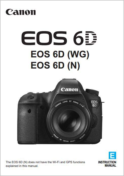 Instruction Manual for Canon 6D