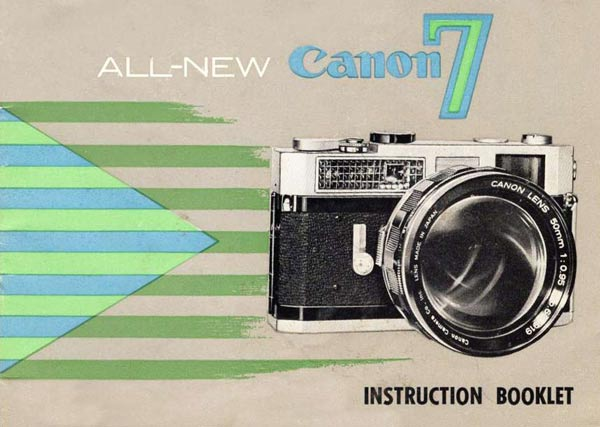 Canon Model 7 Manual