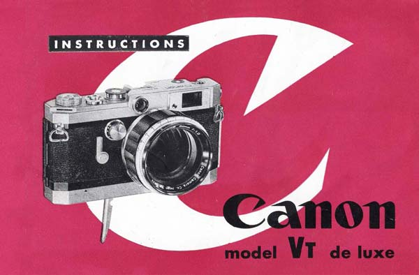 Canon Model Vt de Lux User Manual