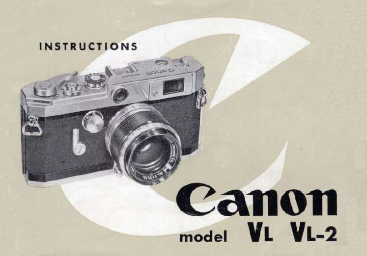 Canon Model VL and VL2 User Manual