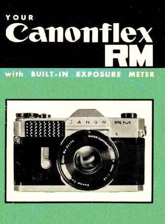 Manual for Canonflex RM